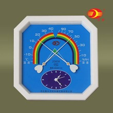 沈拓温my计 湿度计ws内家用 温湿度表 带时钟 2080A