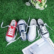 运动鞋鞋带球鞋亲子系鞋带百搭女童帆mz14鞋童鞋xk童帆布鞋