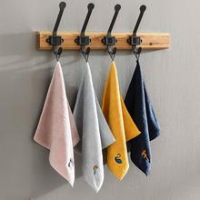 擦手巾na式可爱吸水es用卫生间搽手帕不掉毛厨房用(小)方巾抹布