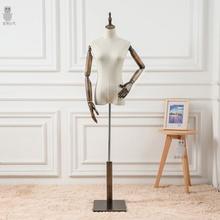 模特架na展示架现代om装店制款的体(小)型带头挂衣架服装架女装