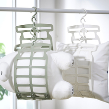 晒枕头na器多功能专ui架子挂钩家用窗外阳台折叠凉晒网