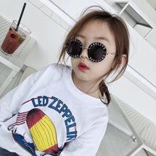 潮韩款na女孩可爱墨ng宝时尚太阳镜防紫外线眼镜夏季