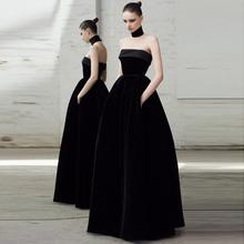 红毯走na晚礼服新娘el020新式气场女王高端大气宴会主持连衣裙