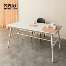 尖叫设na 布景桌家an型现代简约北欧餐桌轻奢长方形桌子饭桌