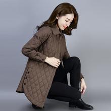 棉衣女na码短外套2ie秋冬新式百搭优雅夹棉加厚衬衫保暖长袖上衣