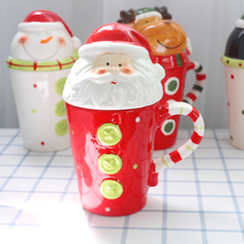 创意陶na3D立体动ty杯个性圣诞杯子情侣咖啡牛奶早餐杯