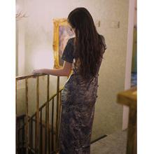 旧时光 timnb4 日常改da国风长式旗袍气质优雅年轻式连衣裙女
