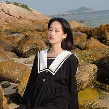 迷路森nb原创娜娜同l8风连衣裙女2021新式日系学院风长袖裙子