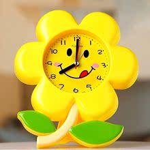 简约时nb电子花朵个or床头卧室可爱宝宝卡通创意学生闹钟包邮