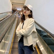 外套2ne21年新式xu(小)个子洋气春装女士休闲棒球服春秋薄式夹克