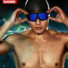 NN泳ne 大框 高ra游泳镜男女平光度数电镀游泳眼镜
