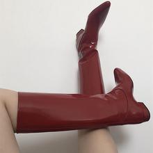 202ne新式欧美英on链平跟高筒靴复古韩款骑士长靴不过膝直筒靴