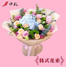 鲜花速递同城送花红玫瑰花束绣ne11武汉北uw南昌