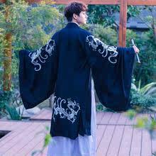 复古风ne装传统长式go族风男式上衣汉服男古风中国风舞蹈复古