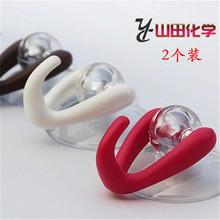 日本YneMADA po式创意Q-BAN门后厨房卫浴吸壁式吸盘挂钩2个装