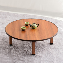 韩式折nf桌圆桌折叠nw榻米飘窗桌家用桌子简易地桌矮餐桌包邮