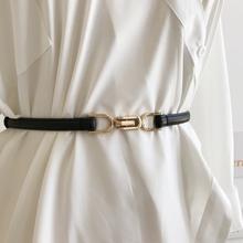 韩款女士腰带哑光真皮可调节挂钩nf12尚腰封ns大衣束腰皮带