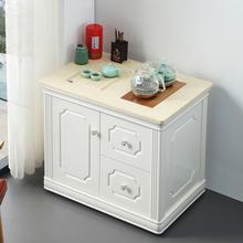 家用(小)nh桌茶台带轮yd木茶车烧水壶一体简约移动茶柜茶具套装