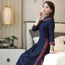 筠雅奥ni旗袍 中国ko 正宗年轻式 少女改良款复古民族风女装
