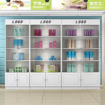 守约玻ni展架立式透ce门带锁展示架展柜货柜推拉美容产品柜子