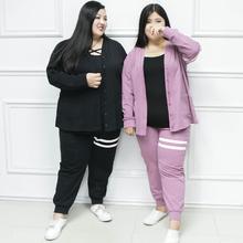 新式miss38ni5码女装洋tzmm秋装2021胖妹妹休闲两件套连衣裙