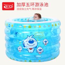诺澳 充气游泳池 加厚婴ni9游泳池儿ht 圆形泳池新生儿