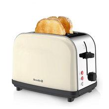 英国复ni家用不锈钢ah多士炉吐司机土司机2片烤早餐机