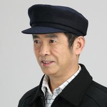 中山平ni帽子羊毛呢ka中老年的爸爸帽爷爷帽老式帽老的帽子男