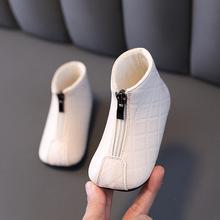 女宝宝ni靴(小)童马丁on加绒加厚宝宝皮靴子1-3岁婴儿棉靴软底