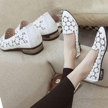 洞洞鞋女夏nk2码40码dc尖头浅口粗跟单鞋低跟白色不露趾凉鞋