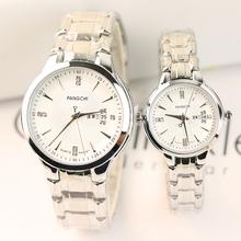 新式时nk商务双日历dc侣手表一对男女士休闲镶钻学生石英表潮