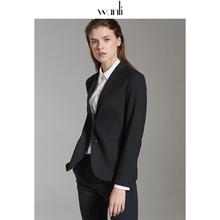 万丽(nk饰)黑色西dc女面试正装女大学生修身职业西装女正装