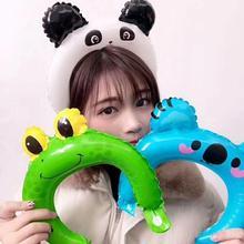 新式儿nk卡通动物发hh气球地推扫码(小)礼品生日装饰广告定制。