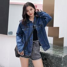 牛仔外nm女2021qm装韩款新式bf宽松显瘦学生ins网红大码上衣