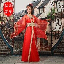 古装服nm女仙女汉服qm装宝宝演出服结婚礼服公主贵妃民族服装