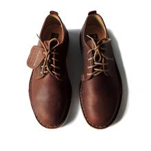 RADnmUM 棕色gy鞋男百搭韩款真皮耐磨内增高男鞋休闲鞋 沙漠靴