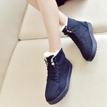 冬马丁靴棉靴加绒保暖短靴女装no11闲女式er平底短筒雪地靴