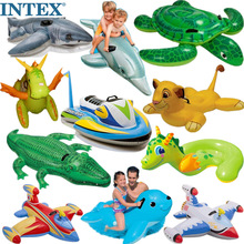 网红InoTEX水上el泳圈坐骑大海龟蓝鲸鱼座圈玩具独角兽打黄鸭