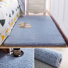 加厚毛no床边地毯卧ad少女网红房间布置地毯家用客厅茶几地垫