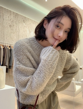 韩国代no正品 20ad冬女装 韩范潮流服饰 马海毛可爱温暖针织衫