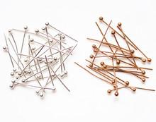 DIYno品配件手工ad料配件铜针 球针圆头针T字每包50根