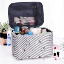 insno红化妆包女ou容量旅行防水随身少女心化妆品收纳盒袋箱