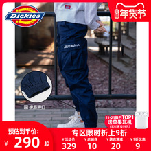 Dickino2s字母印ot多袋束口休闲裤男秋冬新式情侣工装裤7069