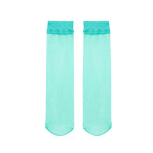 BENno外贸脚尖透so袜品彩女夏季隐形薄透式水晶丝短袜纯色短筒