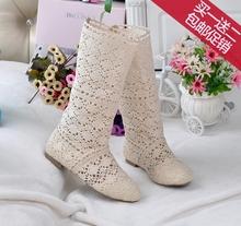 202np新式欧美春np靴单靴网靴平底高筒靴马丁靴洞洞鞋女靴子