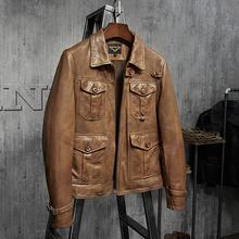金豆新品!杰森斯坦森nq7 真皮皮ng机车皮衣植鞣皮夹克外套