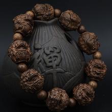 皮黑檀nq雕刻貔貅沉ng木佛珠男女式手链108文玩