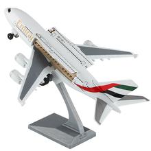 空客Ans80大型客gb联酋南方航空 宝宝仿真合金飞机模型玩具摆件
