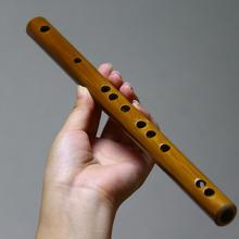 便携式nu型随身乐器ng笛初学短袖珍竹笛(小)降b(小)c调无膜孔