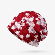秋季透nu女性套头帽ng月子包头帽睡帽 棉质不过敏防风头巾帽